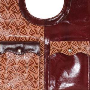 Dámská kožená kabelka Dračí kůže vínová