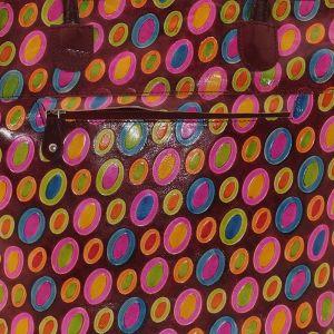 Dámská kožená kabelka Barevný déšť vínová