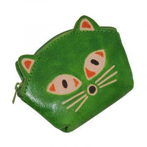 Peněženka na drobné Kočička limetková