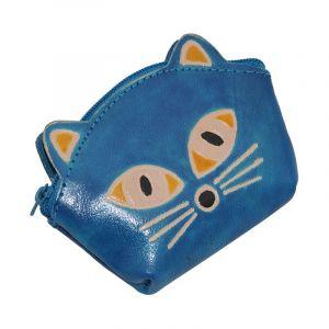 Peněženka na drobné Kočička modrá