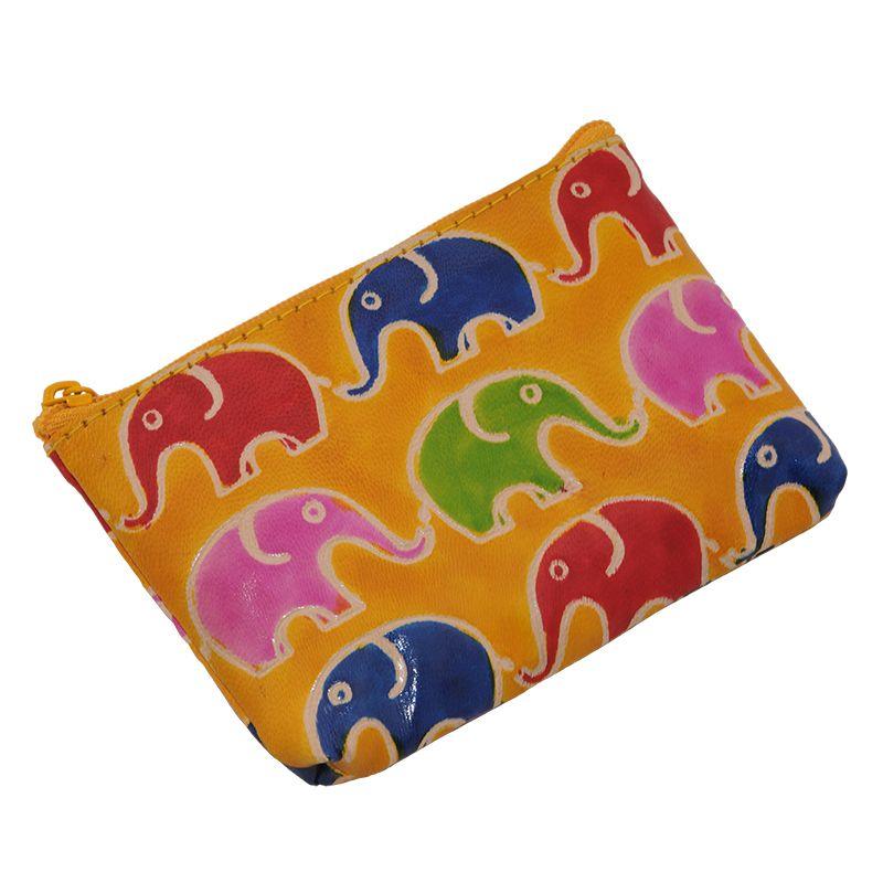Kožená peněženka na drobné Sloni žlutá   SoNo spol. s r.o.