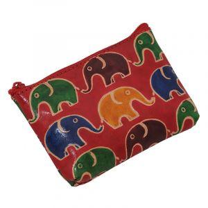 Peněženka na drobné Sloni červená