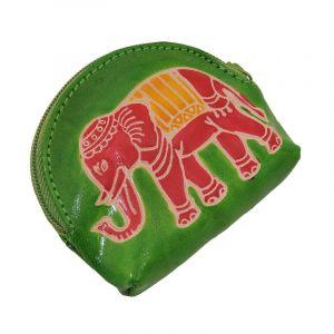 Peněženka na drobné Slon limetková