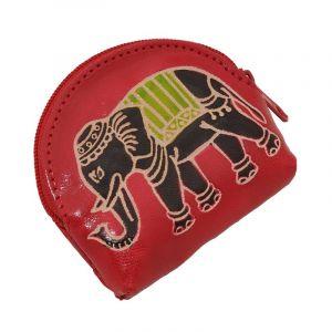 Peněženka na drobné Slon červená
