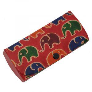 Pouzdro na brýle Sloni červené