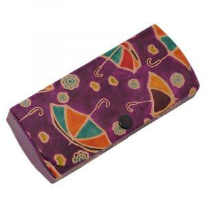 Pouzdro na brýle Deštníky fialové