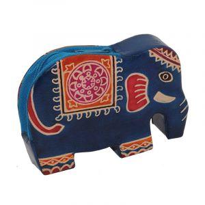 Peněženka na drobné Elefant modrý
