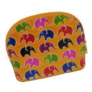 Toaletní kabelka Sloni žlutá