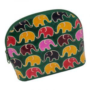 Toaletní kabelka Sloni zelená