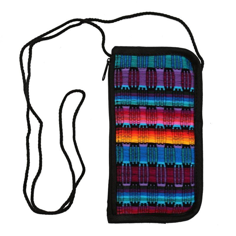 Bavlněná kapsa na krk tkaná, pouzdro na mobil 18 x 10 cm F