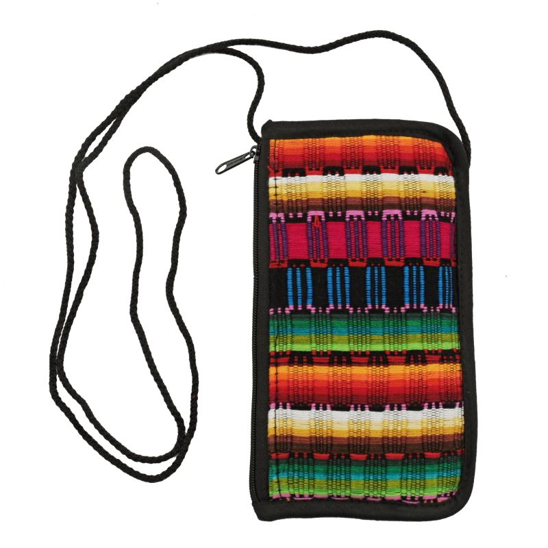 Bavlněná kapsa na krk tkaná, pouzdro na mobil 18 x 10 cm H