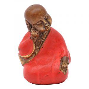 Soška Buddhistický mnich kov 06 cm červená II