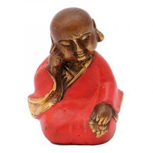Soška Buddhistický mnich kov 7,5 cm červená I | SoNo spol. s r.o.
