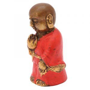 Soška Buddhistický mnich kov 8 cm červená II | SoNo spol. s r.o.