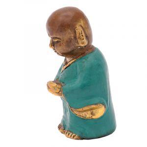 Soška Buddhistický mnich kov 9 cm zelená I | SoNo spol. s r.o.
