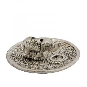 Stojánek na vonné tyčinky - talířek kov Slon