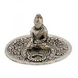 Stojánek na vonné tyčinky - talířek kov Buddha