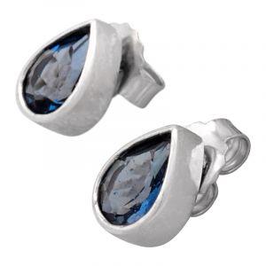 Stříbrné náušnice s London Blue topazem Ag 1,9 g   SoNo spol. s r.o.