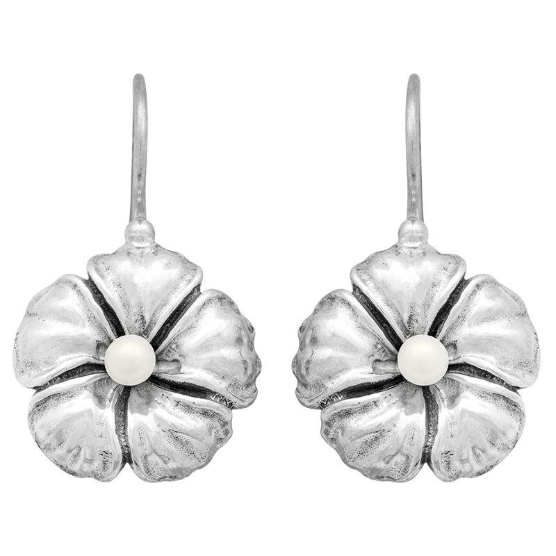 Stříbrné náušnice s pravou perlou Ag 6,5 g květ | SoNo spol. s r.o.