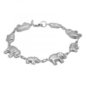 Stříbrný náramek Ag 8,4 g Sloni Myanmar