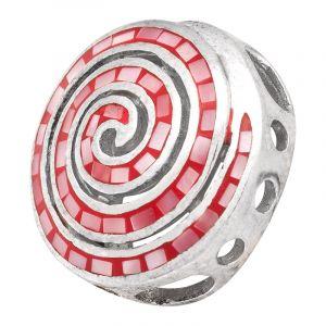 Stříbrný přívěsek perleť Ag 6,1 g spirála