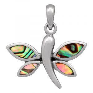 Stříbrný přívěsek paua Ag 4,1 g motýl