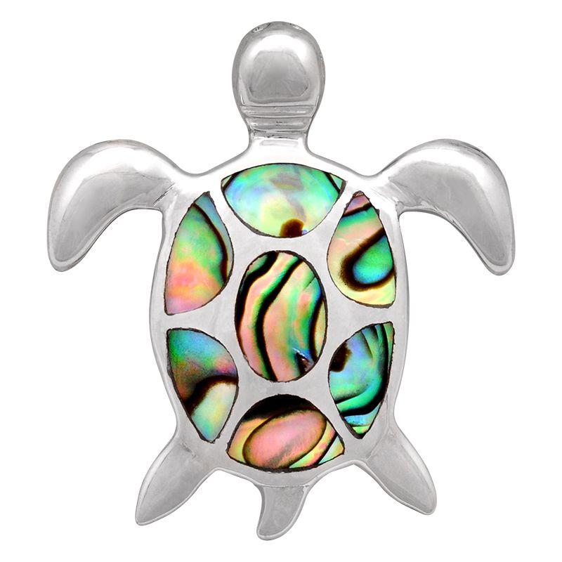 Stříbrný přívěsek s perletí paua Ag 4,4 g želva | SoNo spol. s r.o.