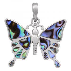 Stříbrný přívěsek paua Ag 5,0 g motýl
