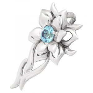Stříbrný přívěsek topaz Ag 5,0 g květ