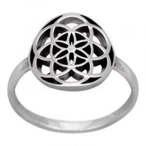 Stříbrný prsten Ag 2,3 g květ života