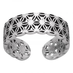 Stříbrný prsten Ag 3,4 g květ života
