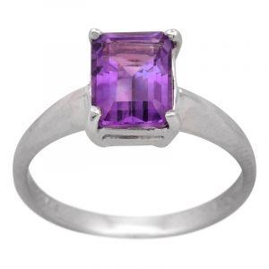 Stříbrný prsten ametyst Ag 2,7 g