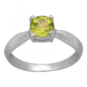 Stříbrný prsten olivín Ag 2,4 g