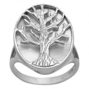 Stříbrný prsten perleť Ag 4,8 g strom života