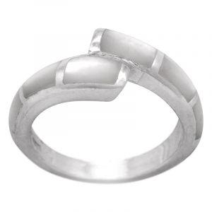 Stříbrný prsten perleť Ag 5,0 g