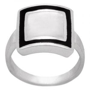Stříbrný prsten perleť Ag 5,7 g
