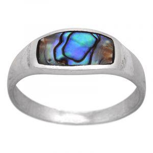 Stříbrný prsten paua Ag 2,6 g