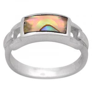Stříbrný prsten paua Ag 4,6 g