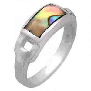 Stříbrný prsten s perletí paua Ag 4,6 g | SoNo spol. s r.o.
