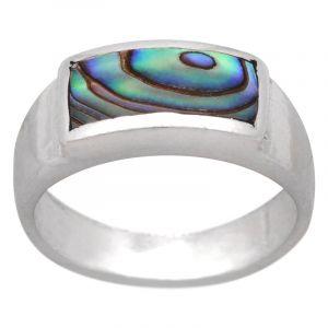 Stříbrný prsten paua Ag 4,8 g