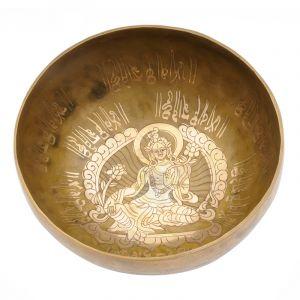 Tibetská mísa 19,5 cm - 1028 g zdobená Tara