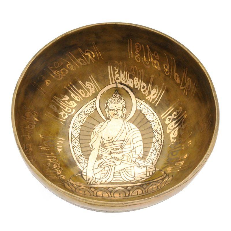 Tibetská mísa zdobená 1064 g - průměr 20 cm Buddha | SoNo spol. s r.o.