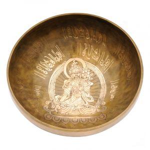 Tibetská mísa 23,5 cm - 1560 g zdobená Tara
