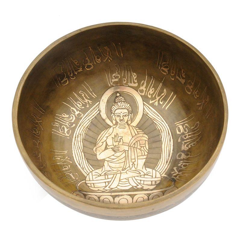 Tibetská mísa zdobená 978 g - průměr 17,5 cm Buddha | SoNo spol. s r.o.