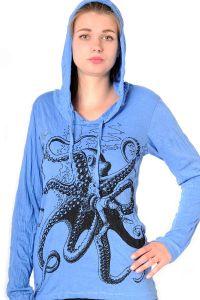 Dámská mikina Sure s kapucí Chobotnice modrá | SoNo spol. s r.o.