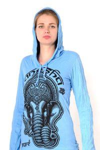 Dámská mikina Sure s kapucí Ganesh azurová