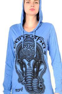 Dámská mikina Sure s kapucí Ganesh modrá