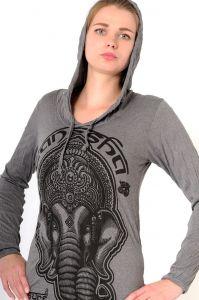 Dámská mikina Sure s kapucí Ganesh šedá
