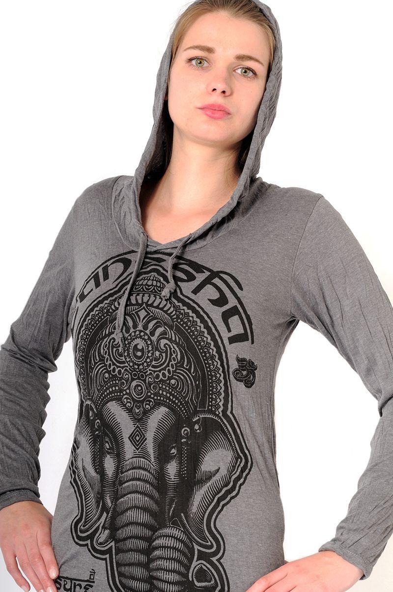 Dámská mikina Sure s kapucí Ganesh šedá | SoNo spol. s r.o.