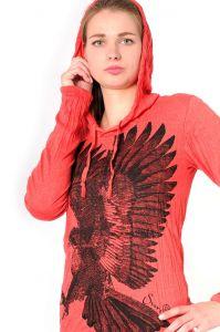 Dámská mikina Sure s kapucí Orel červená